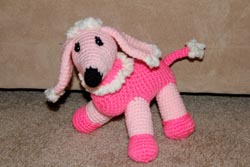 handmade poodle made to order