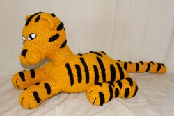 handmade tiger pillow